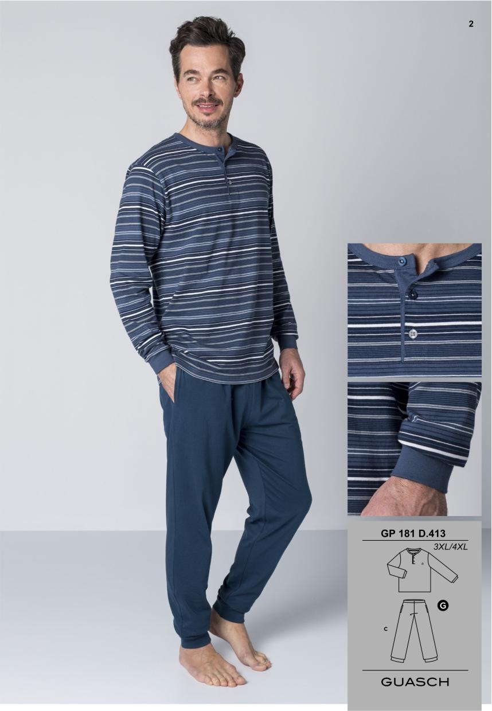 b31fc125a Pijama Guasch Invierno - Pijamas y Batas Hombre - Tiendas lenceria ...