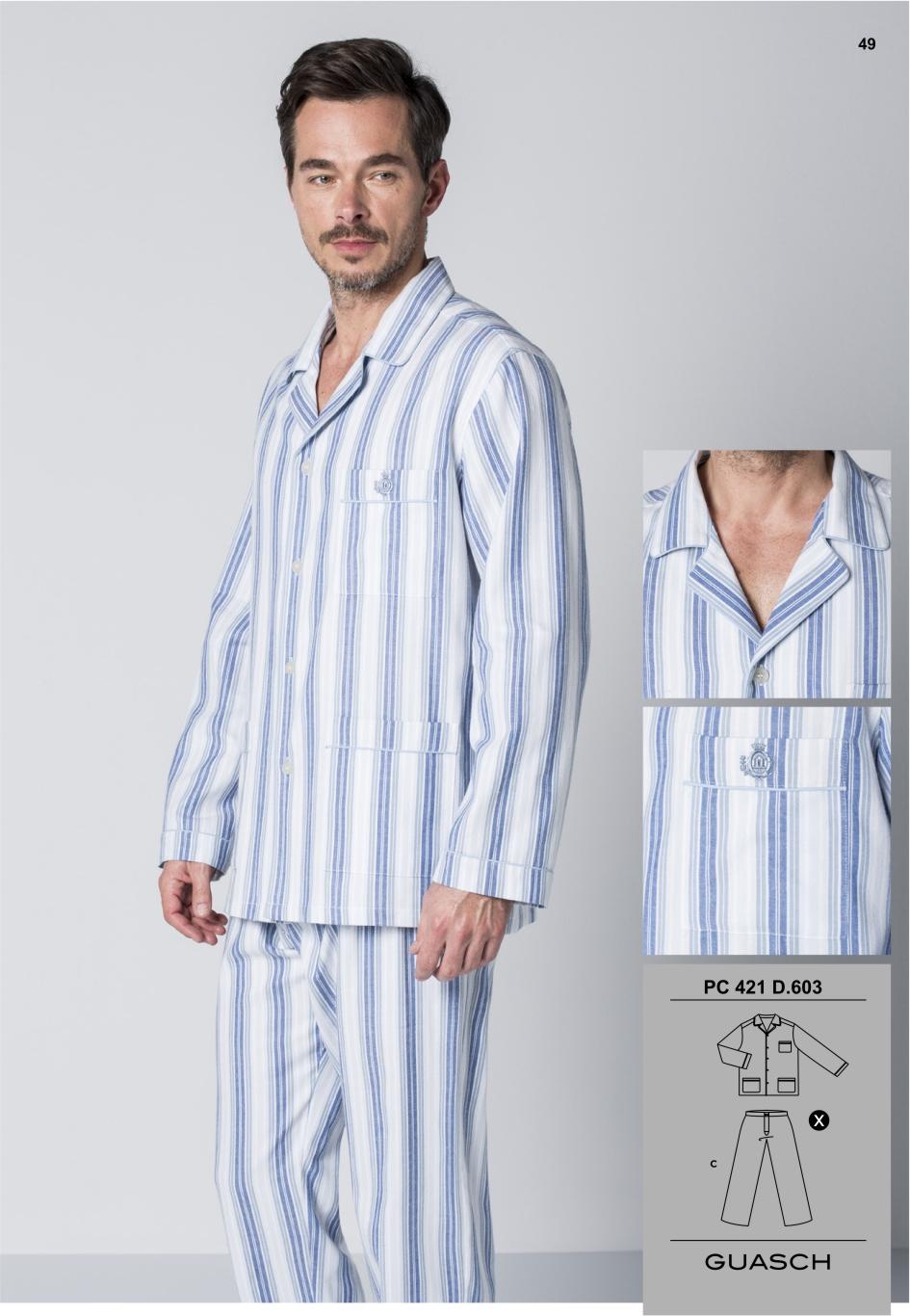 a6e63e7f5 Pijama Abierto Franela Guasch - Pijamas y Batas Hombre - Tiendas ...