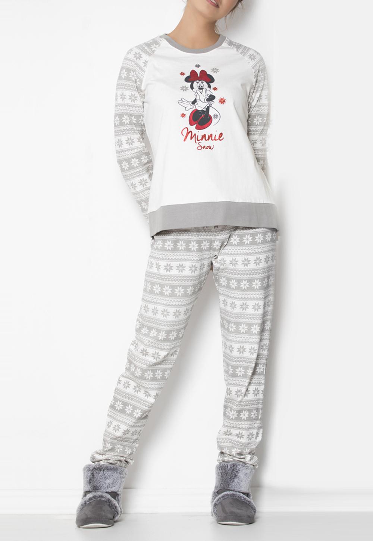 Disney Pijama Manga Larga Minnie Snow para Ni/ña